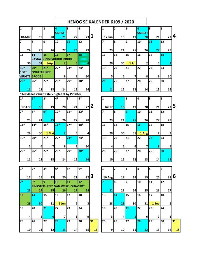 Henog Kalender 2019 - 2020 p1