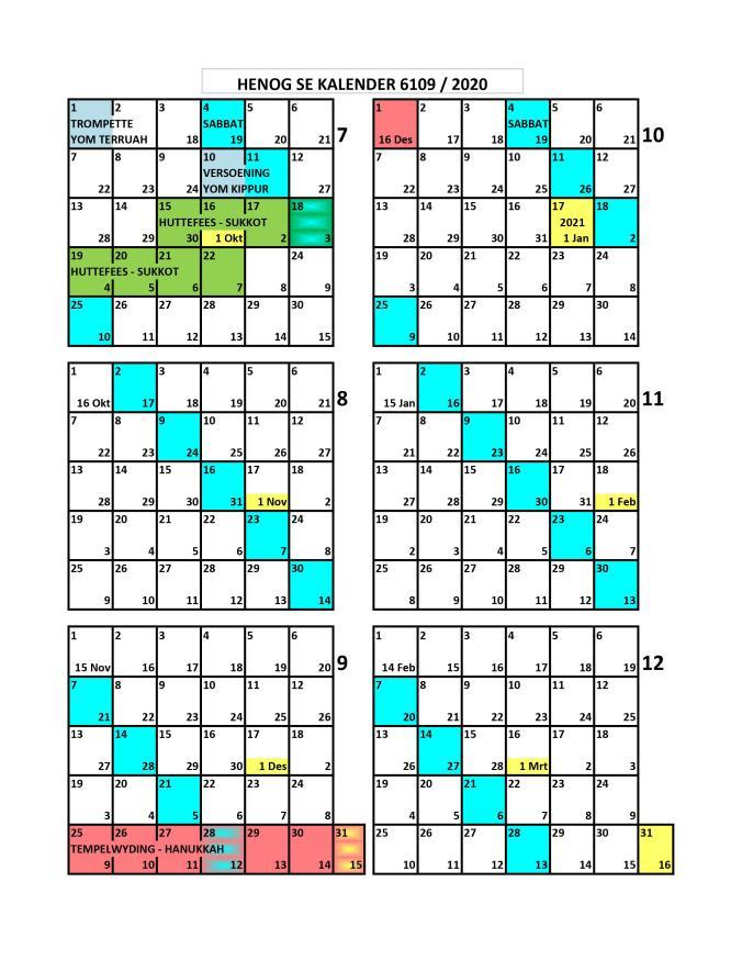 Henog Kalender 2019 - 2020 p2